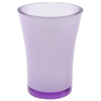 Toothbrush Holder Round Toothbrush Holder Made From Thermoplastic Resins in Purple Finish Gedy AU98-63