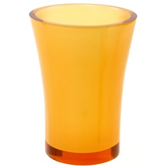 Toothbrush Holder Round Toothbrush Holder Made From Thermoplastic Resins in Orange Finish Gedy AU98-67