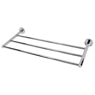 Train Rack Chrome Wall Mounted Towel Shelf Gedy FE44-13
