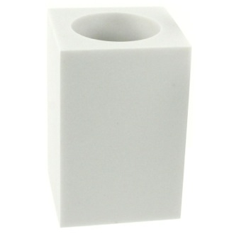 Toothbrush Holder Square Free Standing Toothbrush Tumbler Available in Multiple Finishes Gedy OL98