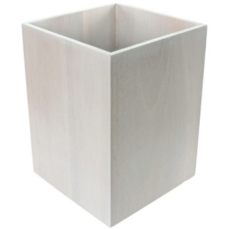 Waste Basket Waste Basket Made From Wood Available in White Finishes Gedy PA09-02