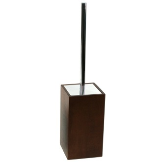 Toilet Brush Brown Square Toilet Brush Holder Made of Wood Gedy PA33-31