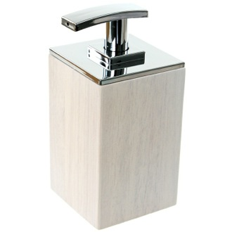 Soap Dispenser White Short Soap Dispenser in Wood Gedy PA81-02