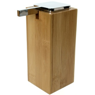 Soap Dispenser Large Wood Wood Soap Dispenser with Chrome Pump Gedy PO80-35