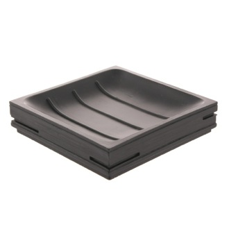 Soap Dish Square Black Soap Holder Gedy QU11-14