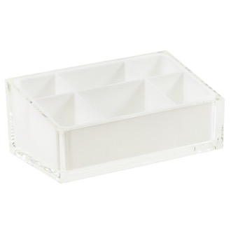 Make-up Tray Make-up Tray Made of Thermoplastic Resins in White Finish Gedy RA00-02
