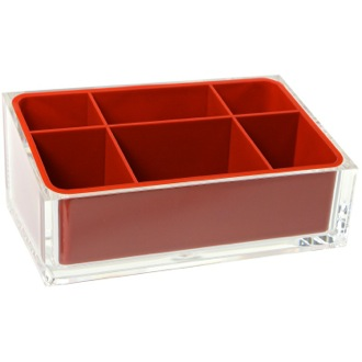 Make-up Tray Make-up Tray Made of Thermoplastic Resins in Red Finish Gedy RA00-06