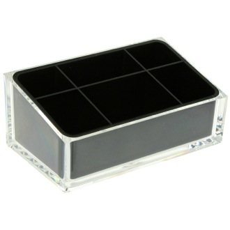 Make-up Tray Make-up Tray Made of Thermoplastic Resins in Black Finish Gedy RA00-14