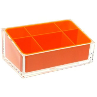 Make-up Tray Make-up Tray Made of Thermoplastic Resins in Orange Finish Gedy RA00-67