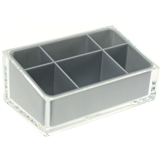 Make-up Tray Make-up Tray Made of Thermoplastic Resins in Silver Finish Gedy RA00-73