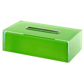Tissue Box Cover Thermoplastic Resin Rectangular Tissue Box Cover in Green Finish Gedy RA08-04