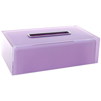 Tissue Box Cover Thermoplastic Resin Rectangular Tissue Box Cover in Lilac Finish Gedy RA08-79