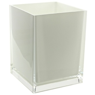 Waste Basket Free Standing Waste Basket With No Cover in White Finish Gedy RA09-02