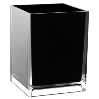 Waste Basket Free Standing Waste Basket With No Cover in Black Finish Gedy RA09-14