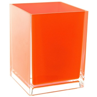 Waste Basket Free Standing Waste Basket With No Cover in Orange Finish Gedy RA09-67