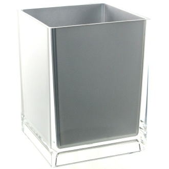 Waste Basket Free Standing Waste Basket With No Cover in Silver Finish Gedy RA09-73