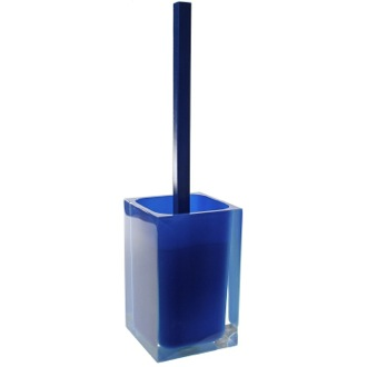 Toilet Brush Decorative Square Blue Toilet Brush Holder Gedy RA33-05