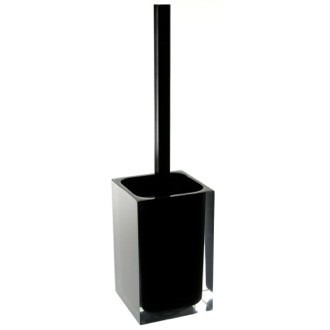 Toilet Brush Black Stylish Square Toilet Brush Holder Gedy RA33-14