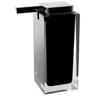 Soap Dispenser Square Black Countertop Soap Dispenser Gedy RA80-14
