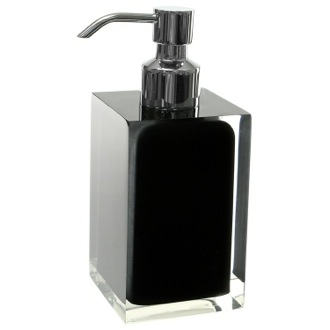 Soap Dispenser Square Black Countertop Soap Dispenser Gedy RA81-14