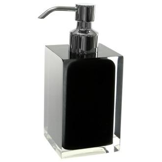 Soap Dispenser Square Black Countertop Gedy Ra81 14