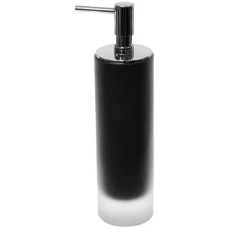 Soap Dispenser Black Glass Free Standing Soap Dispenser Gedy TI80-14