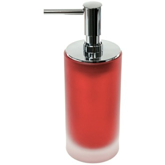 Soap Dispenser Free Standing Red Glass Soap Dispenser Gedy TI81-06