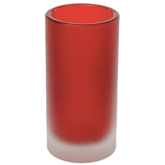 Toothbrush Holder Free Standing Red Glass Tumbler Gedy TI98-06