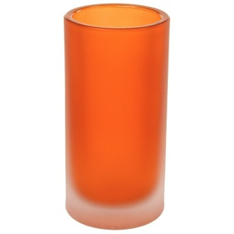 Toothbrush Holder Free Standing Orange and Glass Tumbler Gedy TI98-67