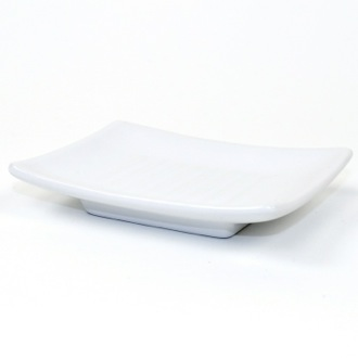 Soap Dish Square White Pottery Soap Dish Gedy VE11-02