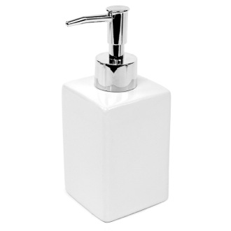 Soap Dispenser Square White Pottery Soap Dispenser Gedy VE81