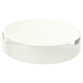 Soap Dish Free Standing Round White Soap Dish in Resin Gedy YU11-02
