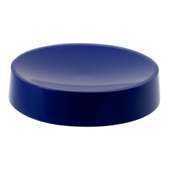 Soap Dish Blue Free Standing Round Soap Dish in Resin Gedy YU11-05