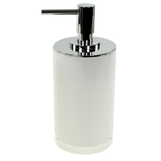 Soap Dispenser Round White Free Standing Soap Dispenser in Resin Gedy YU80-02
