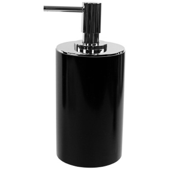 Soap Dispenser Black Round Free Standing Soap Dispenser in Resin Gedy YU80-14