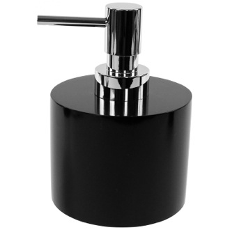 Soap Dispenser Black Round and Short Soap Dispenser in Resin Gedy YU81-14