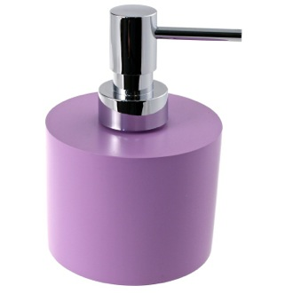 Soap Dispenser Lilac Round and Wide Soap Dispenser in Resin Gedy YU81-79