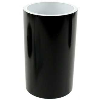 Toothbrush Holder Black and Round Bathroom Tumbler in Resin Gedy YU98-14