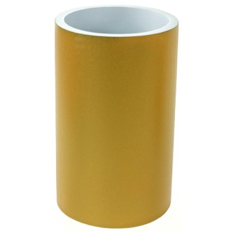 Toothbrush Holder Round Gold Free Standing Bathroom Toothbrush Holder Gedy YU98-87