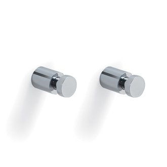 Bathroom Hook Pair of Round Polished Chrome Hooks Gedy 2227-13