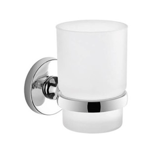 Toothbrush Holder Wall Mounted Frosted Glass Toothbrush Holder With Chrome Mounting Gedy FE10-13