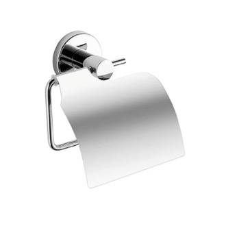 Toilet Paper Holder Chrome Toilet Paper Holder With Cover Gedy FE25-13