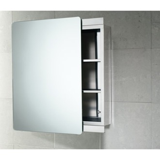 Medicine Cabinet Stainless Steel Cabinet with Sliding Mirror Door Gedy KO07-13