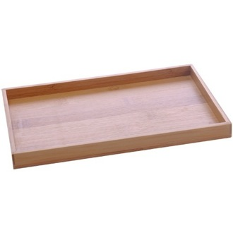 Bathroom Tray Tray Made From Wood in Bamboo Finish Gedy PO06-35