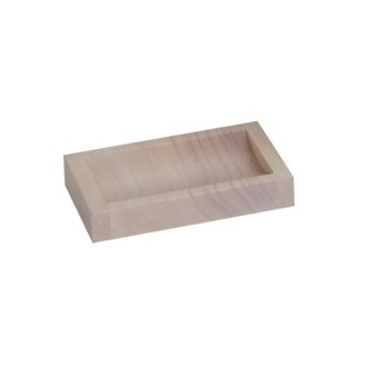 Soap Dish White Wood Soap Dish in White Gedy PA11-02