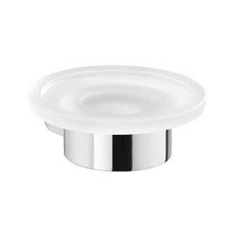 Soap Dish Wall Mount Frosted Glass Soap Dish With Chrome Mount Gedy PI11-13