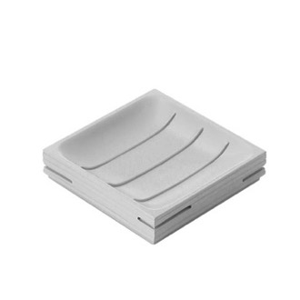 Soap Dish Modern Square Grey Soap Holder Gedy QU11-08