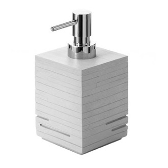 Soap Dispenser Modern Grey Countertop Soap Dispenser Gedy QU81-08