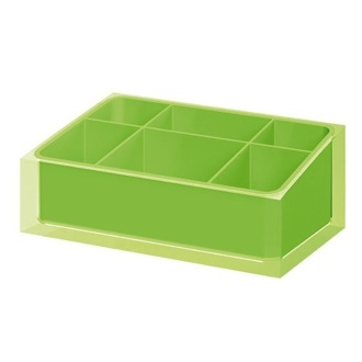 Make-up Tray Make-up Tray Made of Thermoplastic Resins in Green Finish Gedy RA00-04
