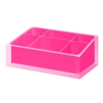 Make-up Tray Make-up Tray Made of Thermoplastic Resins in Pink Finish Gedy RA00-76